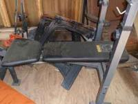 weight bench with metal weights comes with bench