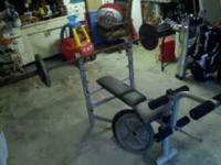 Hi, This is a nice workout bench made out of metal. It