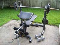 I have this great olympic style weight bench with built