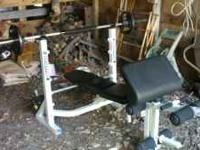 I am selling a powerhouse Olympic sized bench press