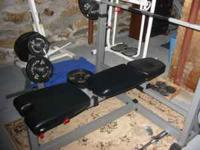 "Brand new, Never used adjustable weight bench w/2"" foam"