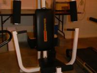 Power Booster Weight Machine has multiple attachments