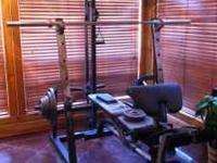 This is a very nice weight set! It has only been used