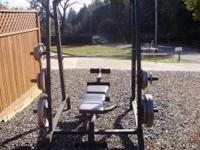Olympic Style Free Weight Set made by Marcy in good