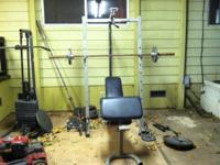 Selling my weight set. It comes with a squat rack with
