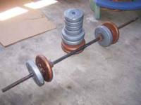 I have weights for sale. I have 10 and 5s. 20 OBO