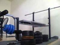 Weights with bench. 100.00 call or text  Two- 25 lb
