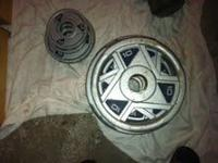 Selling 155 pounds of Olympic plates/weights. Marcy