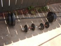 I HAVE SOME WEIGHTS FOR SALE THERE ARE ONE BIG BAR AND