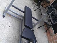 I HAVE A WEIGTH BENCH IN GOOD CONDITION INCLUDES 45 LB