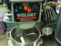 Selling a Welbilt Varimixer model W40 with attachments.