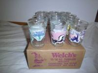 Collector Series of Lonney Tune/ Welch's glasses....set