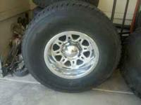 4 Weld Racing 3/4 ton wheels with Dayton 305/70R16