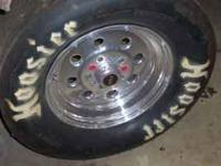 "15 x 8 Weld Wheels with 6"" backspace, Hoosier slicks 29"