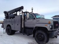 2002 GMC C7500 S/A Service Truck w/ Crane 70,236 Actual