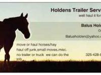 well haul it for you Holdens Trailer Service here is a