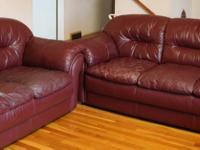 Type: FurnitureType: Sofa BedsBurgundy Bonded Leather