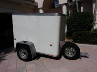 Wells Fargo enclosed 4x6 trailer, white, TC Trecker,