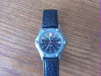 A carefully used Wenger swiss army watch. I replaced
