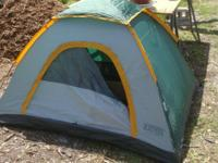 This tent looks like new, is lightweight and easy to