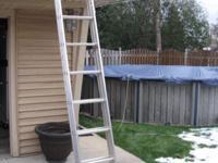 D716-2 16 ft Type III Aluminum D-Rung Extension Ladder