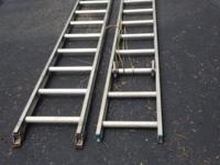 Werner aluminum extension ladder. Used, but in good