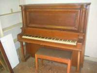 Old Werner upright piano that has been in my back