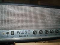 Up for sale is a West Avalon guitar amplifier. These