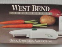 West Bend Electric Power Peeler NEW in the Box Quick,