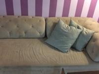 Beautiful dove grey West Elm Tillary sectional sofa. It