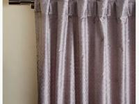 (4) West Elm Silver metallic velvet curtain panels.