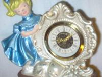 Ceramic Clock in LITTLE GIRL Shape, has a W. German