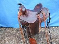This saddle has new sheep wool on the underside and has
