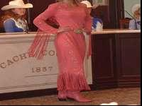 Custom made Western Dress made from Pig Leather, color