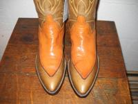 Customizeded tan and brownish boots by Fred Hammond of