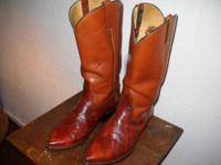 One-off customizeded EEL skin boots by Rios of Mercedes