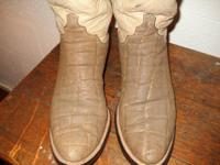 Customizeded ELEPHANT skin boots by M.L. Leddy vintage