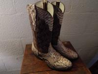 These boots are merely the finest set of Python snake