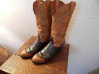 Smooth ostrich boots by Nacona vintage 1970's in