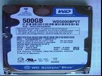 Western Digital Scorpion Blue 500 GB Laptop SATA