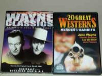 40 great western movies on DVD, many John Wayne