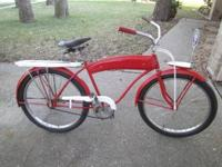 1950s western flyer bike has been repainted.It has new