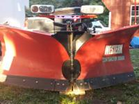 1 year old western v plow. Great shape, barely used. It