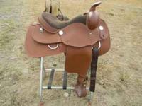 New Circle P synthetic western pleasure/show saddle.