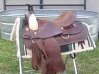 "16"" Roping saddle, like new used less than 10 x's. Very"