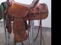 "16"" Western Saddle. Used. Many extras including: Cinch,"