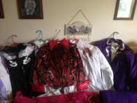 Huge lot of western show clothes. Chaps Numerous show