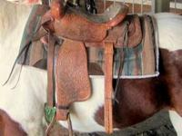 "Western Trail Saddle, 15"" padded seat. $250 cash. Call"
