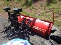 2010 western wide out snow plow. like new condition.