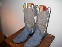 Blue Suede vintage 1970's customized made boots by the